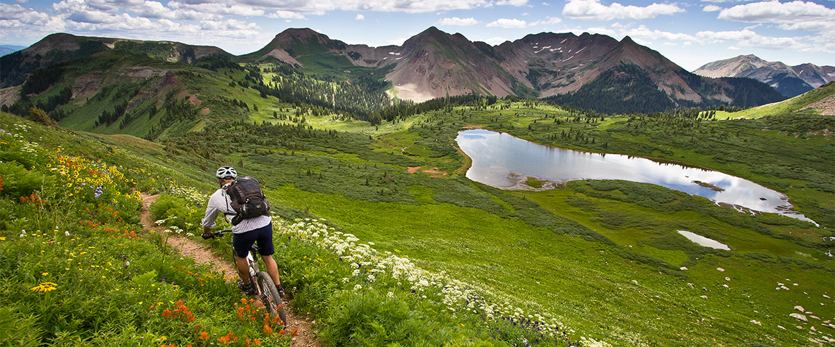 High alpine mountain biking