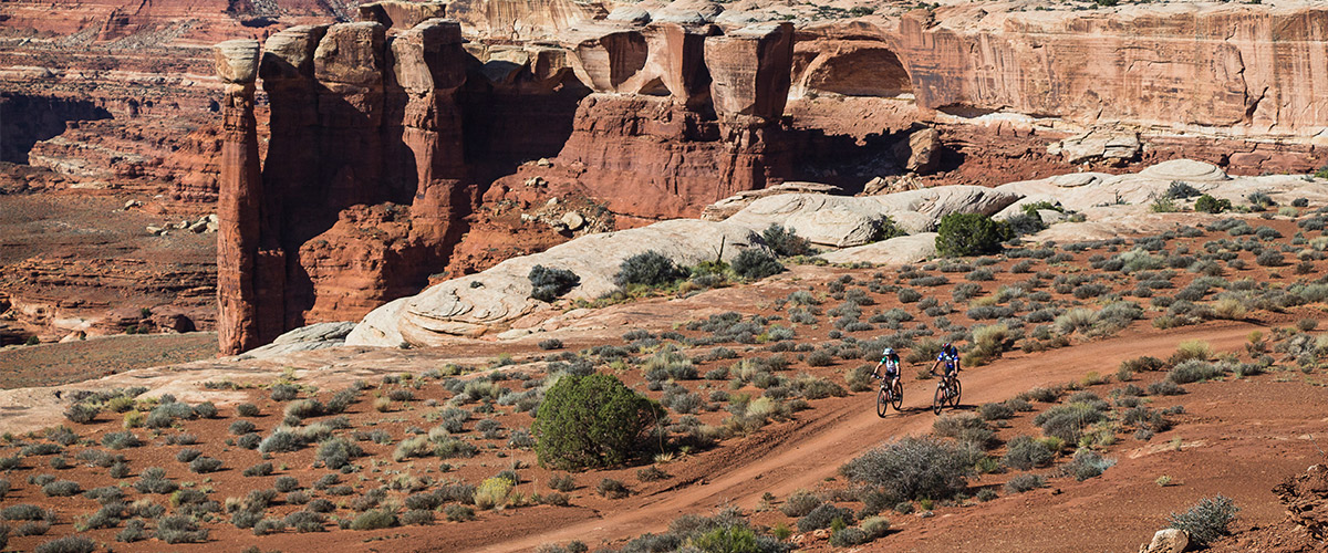 Riders enjoying the desert setting