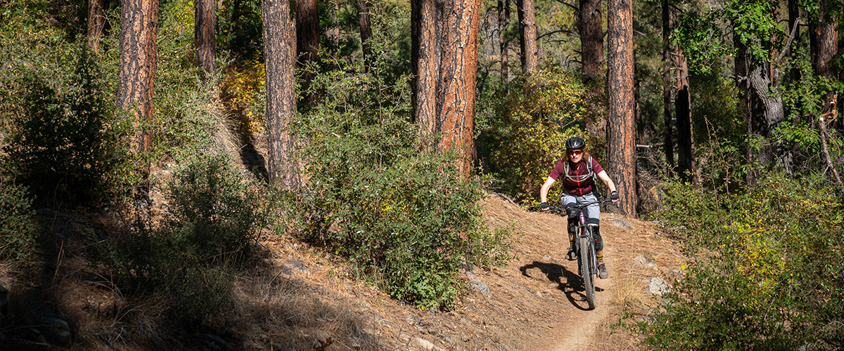 Rider in Prescott AZ close to Goldwater Lake.